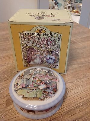 Royal Doulton Brambly Hedge Birthday Trinket Box. Boxed In Excellent Condition