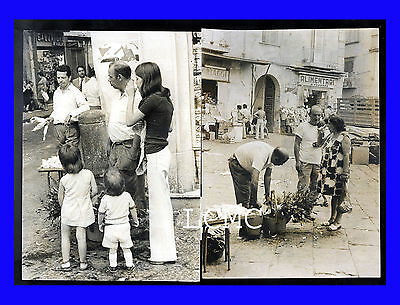 Due 2 Fotografia Strange Photo Napoli 1972 Mestieri Scomparsi Acqua 'e Mummara
