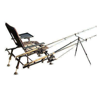 Cyprinus Whole Hog Fishing padded arm Chair seat Rod Pod for Carp Course fishing