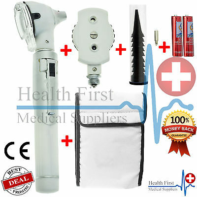 Grey F.O Otoscope Ophthalmoscope Opthalmoscope ENT Diagnostic Examination Set