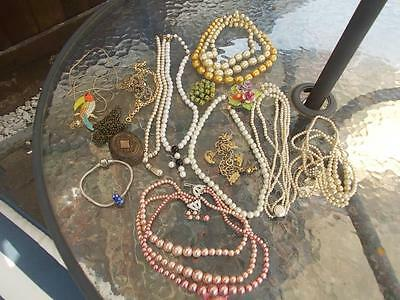 Mixed Lot Of Costume Jewellery Vintage And A Few Modern