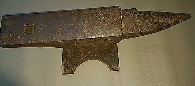 Blacksmith Anvil wrought iron steel faced ?  Large Tool Primitive Horn & flat