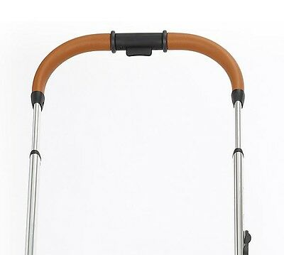 Genuine iCandy Peach complete handle Tan Leather & chrome - NEW - FREE POSTAGE
