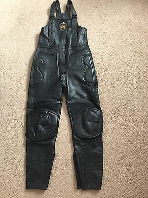 Ladies Leather Motorcycle Trousers/Salopettes