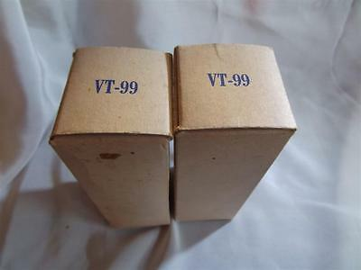 2x VALVE TUBE LAMPE TUNG-SOL ROUND PLATE 6F8-G VT99 NOS NIB MATCHED TESTED=°=