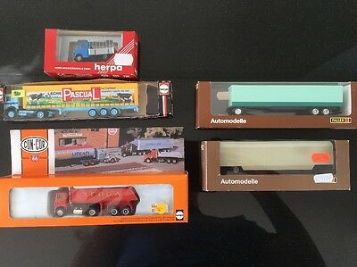 HO 1:87 Lot Of Herpa And Faller Vehicles