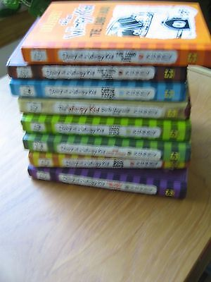 lot: 8 DIARY OF A WIMPY KID (Jeff Kinney) hardcover books