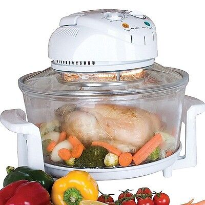Halogen Oven (Fast, Healthy, Fat-free Cooking) 11.5L Glass Body, Self Cleaning