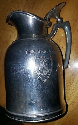 Rare Shelton Hotel New York Pitcher Stanley Insulating Co