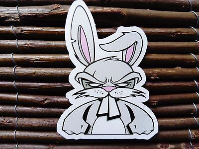 Angry Rabbit Funny Bunny Sticker Decal Skateboard Snowboard Helmet Laptop