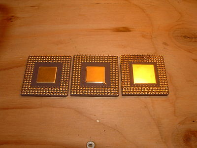 Lot of 2 AMD and 1 IBM 486 cpu's processors
