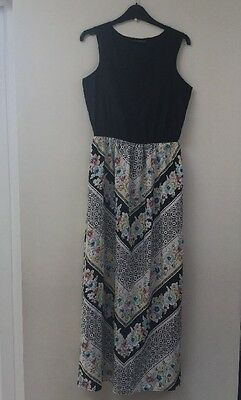 Atmosphere Ladies Black Print Sleeveless Dress Uk Size 12