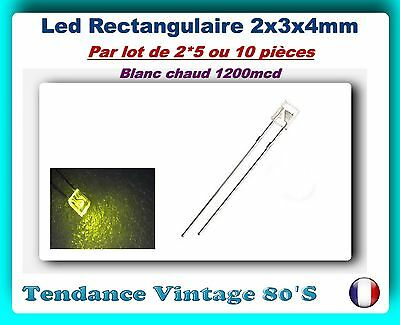 warm white LED 25 ou 100pcs 10 285BC# LED carré 2mm blanc chaud