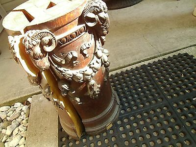 RARE! Antique Newel Post Architectural Salvage (Broken) from Cleveland Ohio