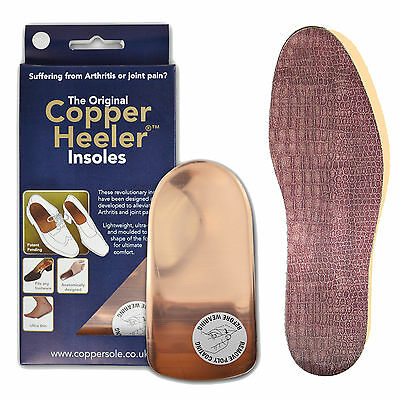 The Original Copper Heeler Insoles ALL SIZES Arthritis Relief Insoles + 2X CROC