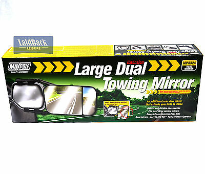 Maypole QUALITY LARGE *4x4* DUAL Glass towing mirror*Caravans/Trailers