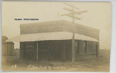 """Rochester, Texas """"1St State Bank"""" Rppc Real Photo Postcard"""
