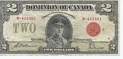 THE DOMINION  BANK  1923 LARGE SIZE 2$  BILL --  DC-26g - McCAVOUR & SAUNDERS