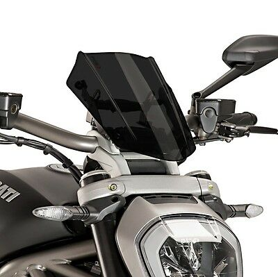 Windscreen Puig Sport Ducati Xdiavel 16-17 dark smoke fly screen windshield