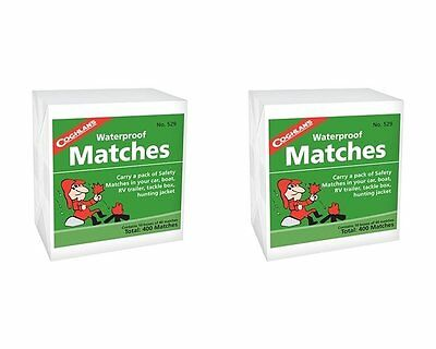 Coghlan's, Waterproof Matches, 2 Packs (10 Box Per Pk), mfg 529