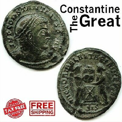 Ancient Coin Imperial Roman Empire Constantine The Great Bronze Collectible Coin