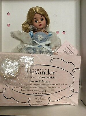 "NRFB Madame Alexander :  10"" Swan Princess. Limited Edition #581/1000 (2002)"