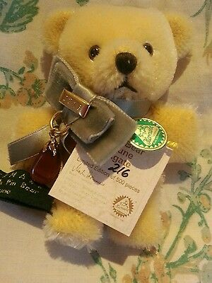 Hermann Collectable Pin Bear June Limited Edition