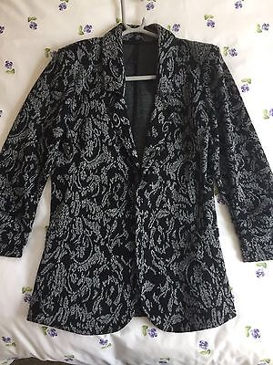 Women's Black Pattern Blazer Size 10 next