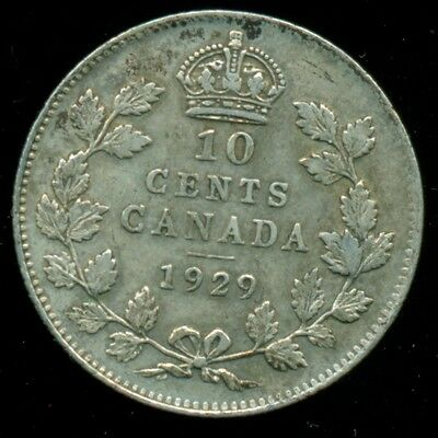 1929 Canada King George V, Silver Ten Cent