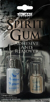 Spirit Gum Adhesive & Remover Set Global Make Up Special FX Non-Toxic