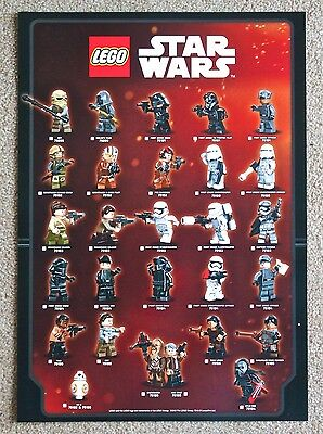 Lego Star Wars The Force Awakens limited edition mini figure mini poster.