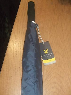 Lyle & Scott  Double Canopy Golf Umbrella  Navy/yellow..nwt