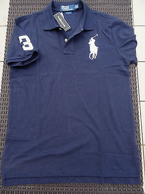 Polo RALPH LAUREN Bleu marine, Taille M, 100% Neuf ! Big Pony Homme