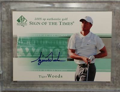 Tiger Woods 2005 SP Authentic Golf, Sign of the Times Autograph Card, Excellent