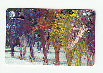 telephone card from panama - dancers