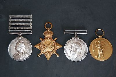 Boer War WW1 medal group