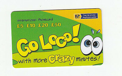 telephone card from England - GO LOCO!