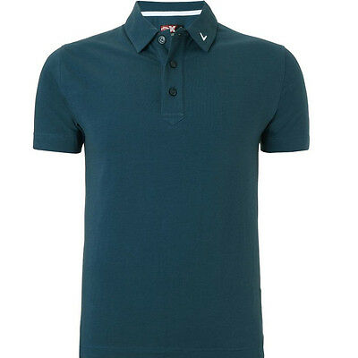 Callaway Cotton Blend Solid Polo - Large - Midnight Navy