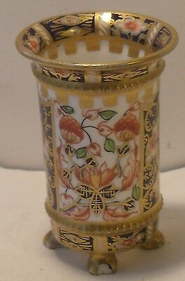 "2.5"" Royal Crown Derby Imari Miniature 4 Footed Vase/Toothpick  Holder"