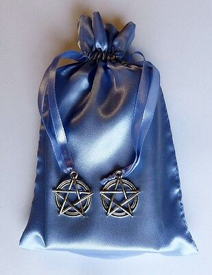 Pentacle Star Blue Tarot Bag