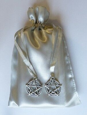 Pentacle Star Silver Tarot Bag