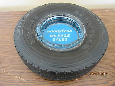 """OLD 1950's GOOD YEAR TIRE ASHTRAY """"MILEAGE SALES"""""""