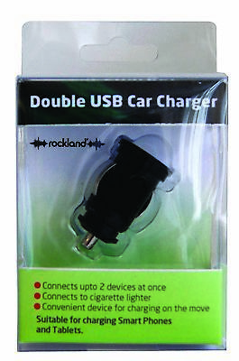 8x Double USB Charger F82129 Rockland Genuine Top Quality NEW MULTIBUY SAVER