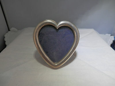 Vintage solid silver photo picture frame love token, LONDON import marks, 925