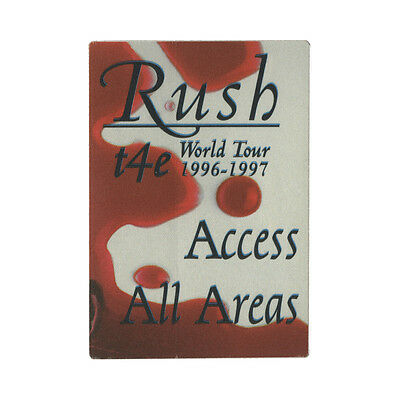 Rush authentic 1996 Test for Echo Tour satin cloth Backstage Pass All Access red