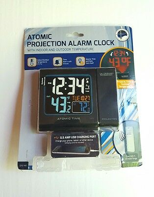 La Crosse Atomic Projection Alarm Clock W/ Time and Outdoor Temperature 616-146
