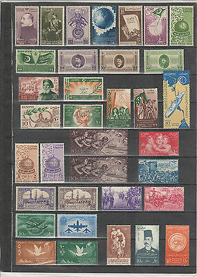 EGYPT 1944 - 1958 Commemoratives selection. All different. MNH.