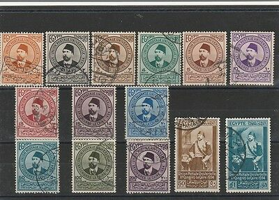 EGYPT 1933 UPU high value complete set, used.