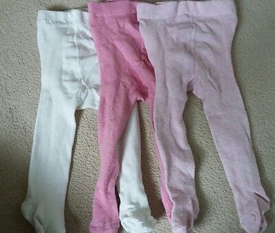 3 baby girl tights 6-9 months