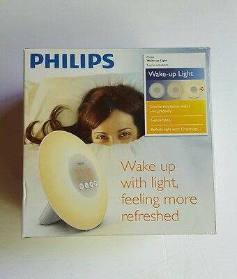 Philips Wake-Up Light with Sunrise Simulation, White, HF3500 NEW OPEN BOX